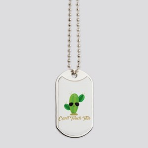 Gold Can't Touch This Cactus Dog Tags