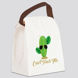 Gold Can't Touch This Cactus Canvas Lunch Bag