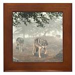 Hunters in the Mist; Framed Tile