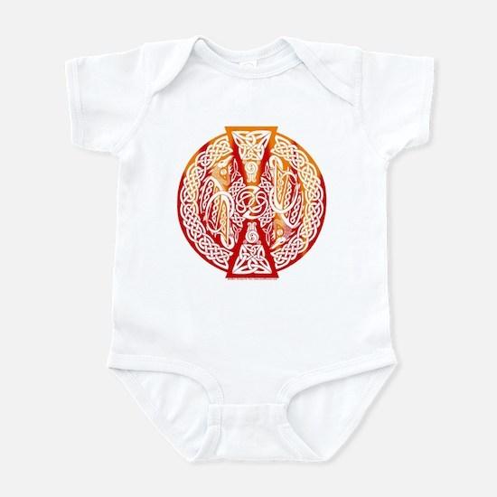 Celtic Knotwork Dragons Fire Infant Creeper