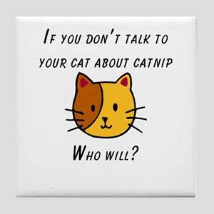 Cat Nip Tile Coaster