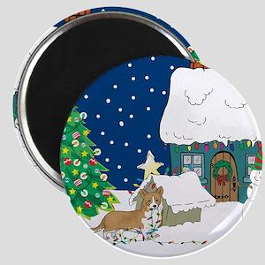 Christmas Lights Corgi Magnet