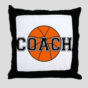 Basketball Coach Throw Pillow