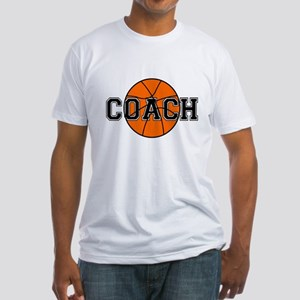 Basketball Coach Fitted T-Shirt