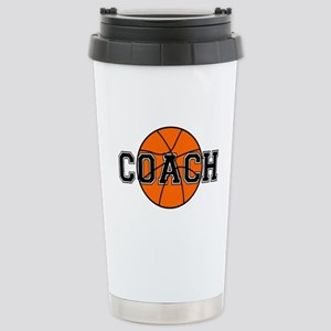 Basketball Coach Stainless Steel Travel Mug