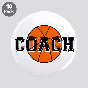 "Basketball Coach 3.5"" Button (10 pack)"