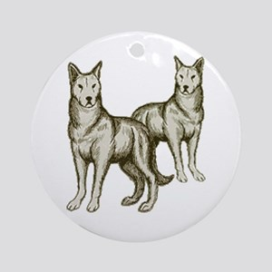 Wolf Pack 2 Ornament (Round)