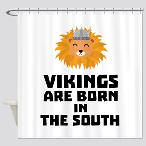 Vikings are born in the South Clbx6 Shower Curtain