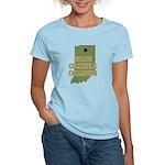 Indiana State Cornhole Champi Women's Light T-Shir