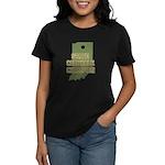 Indiana State Cornhole Champi Women's Dark T-Shirt