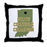 Indiana State Cornhole Champi Throw Pillow