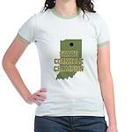 Indiana State Cornhole Champi Jr. Ringer T-Shirt
