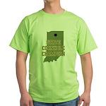 Indiana State Cornhole Champi Green T-Shirt