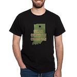 Indiana State Cornhole Champi Dark T-Shirt
