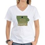 Iowa State Cornhole Champion Women's V-Neck T-Shir