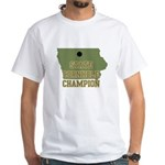 Iowa State Cornhole Champion White T-Shirt