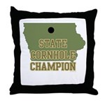 Iowa State Cornhole Champion Throw Pillow