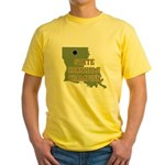 Louisiana State Cornhole Cham Yellow T-Shirt