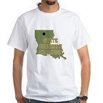 Louisiana State Cornhole Cham White T-Shirt