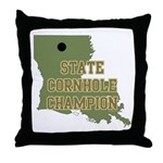 Louisiana State Cornhole Cham Throw Pillow