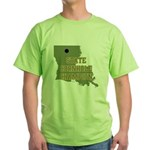 Louisiana State Cornhole Cham Green T-Shirt