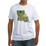 Louisiana State Cornhole Cham Fitted T-Shirt