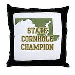 Maryland State Cornhole Champ Throw Pillow