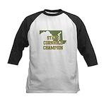 Maryland State Cornhole Champ Kids Baseball Jersey