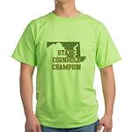 Maryland State Cornhole Champ Green T-Shirt