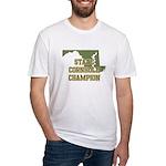 Maryland State Cornhole Champ Fitted T-Shirt