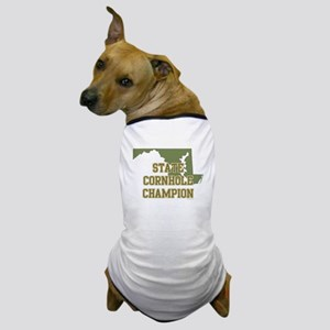 Maryland State Cornhole Champ Dog T-Shirt