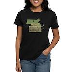 Massachusettes State Cornhole Women's Dark T-Shirt