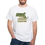 Massachusettes State Cornhole White T-Shirt