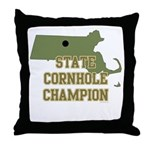 Massachusettes State Cornhole Throw Pillow