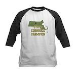 Massachusettes State Cornhole Kids Baseball Jersey