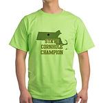 Massachusettes State Cornhole Green T-Shirt