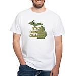 Michigan State Cornhole Champ White T-Shirt