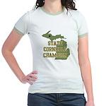 Michigan State Cornhole Champ Jr. Ringer T-Shirt