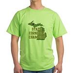 Michigan State Cornhole Champ Green T-Shirt