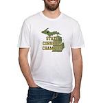 Michigan State Cornhole Champ Fitted T-Shirt