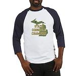 Michigan State Cornhole Champ Baseball Jersey