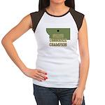 Montana State Cornhole Champi Women's Cap Sleeve T