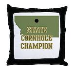 Montana State Cornhole Champi Throw Pillow