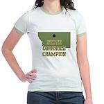 Montana State Cornhole Champi Jr. Ringer T-Shirt