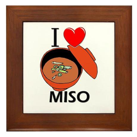I Love Miso Framed Tile