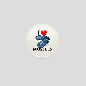 I Love Mussels Mini Button