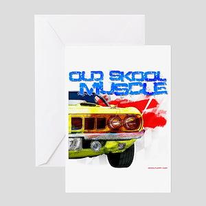Old Skool Cuda Greeting Card