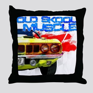 Old Skool Cuda Throw Pillow