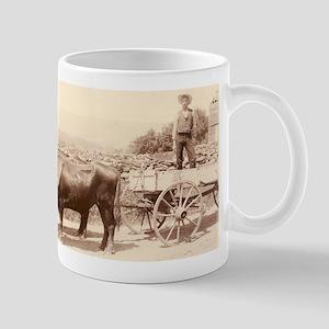 Milking Devon Oxen mug