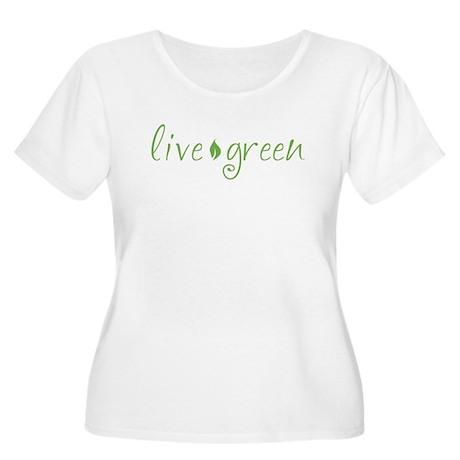 Live Green Women's Plus Size Scoop Neck T-Shirt